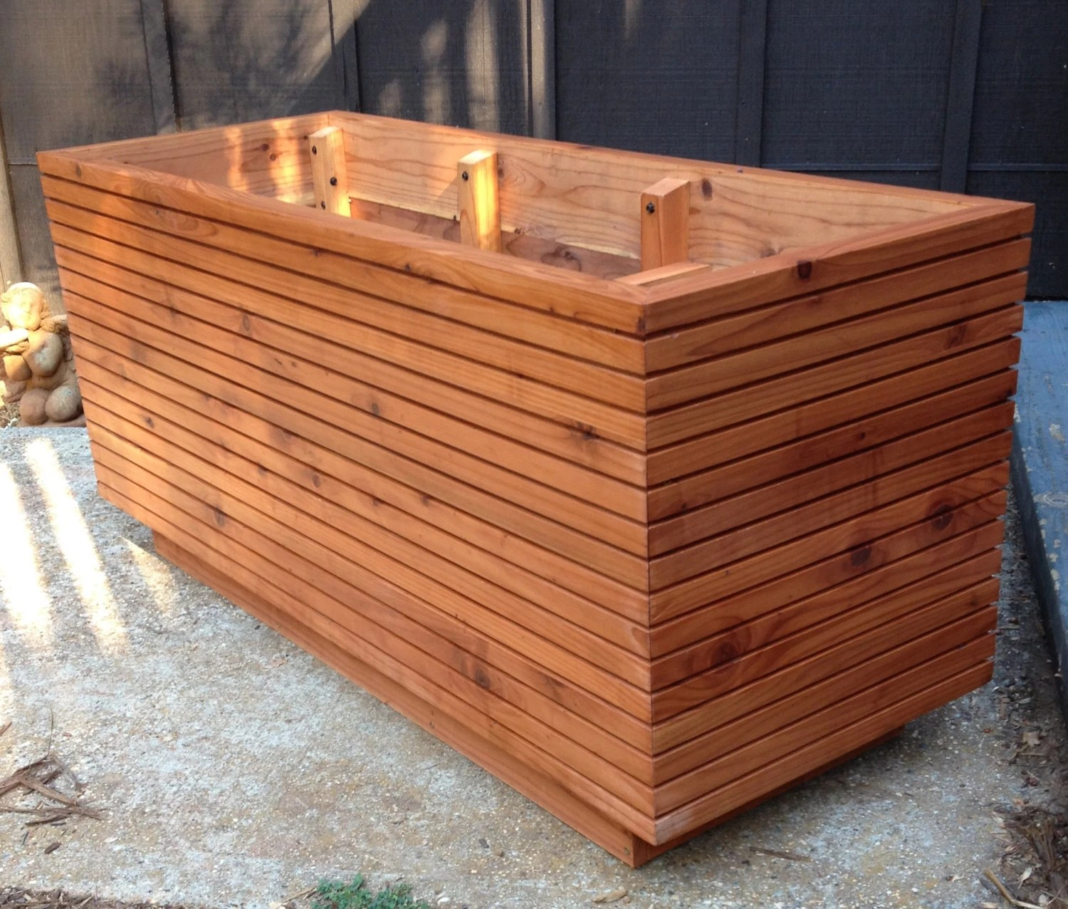 Tall Modern Redwood Planter Boxes Free Shipping 10 50