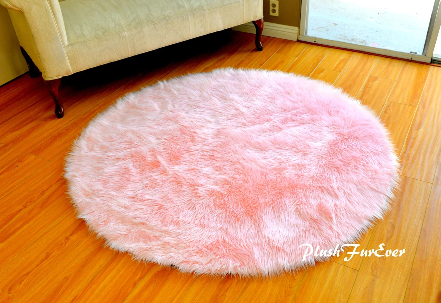 Teppich Vintage Gold Pink Nursery Rug Baby Pink Luxury Faux Fur Throw Area Rug