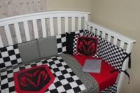 Crib Bedding Set Dodge Ram 6 Piece Automobile Checkered and