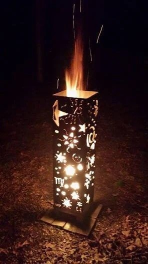 Eclairage Exterieur Enterré Stars And Moons Vertical Fire Pit By Alizemetalworks On Etsy
