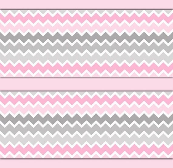 Wallpaper Border For Girl Nursery Pink Grey Gray Ombre Chevron Wallpaper Border Decal Girl