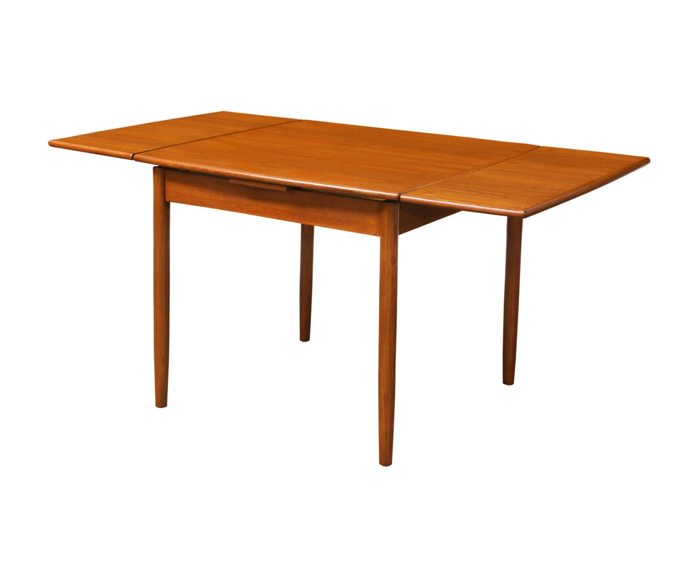 Modern Dining Table With Leaf Danish Modern Teak Square Draw Leaf Dining Table Haute Juice