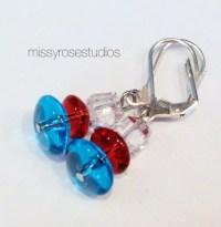 Fourth of July Earrings Firework Earrings by MissyRoseStudios