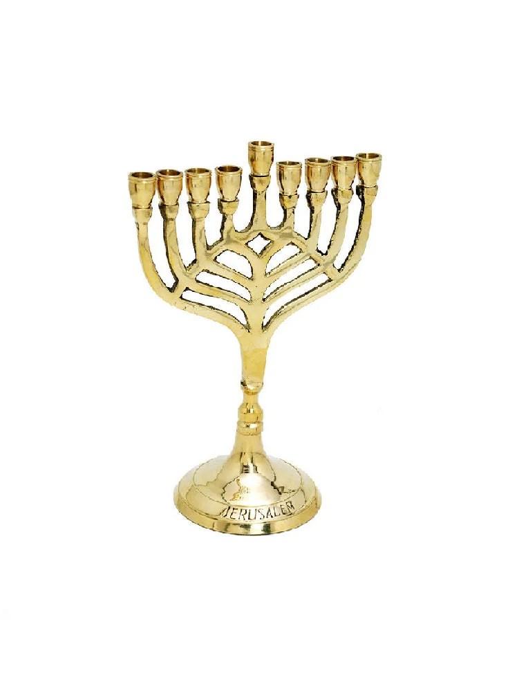 Judaica Hanukkah Menorah Jewish Lampbrass Copper 7 By