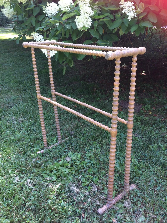 Vintage Wooden Antique Spool Quilt Rack Jenny Lind Style