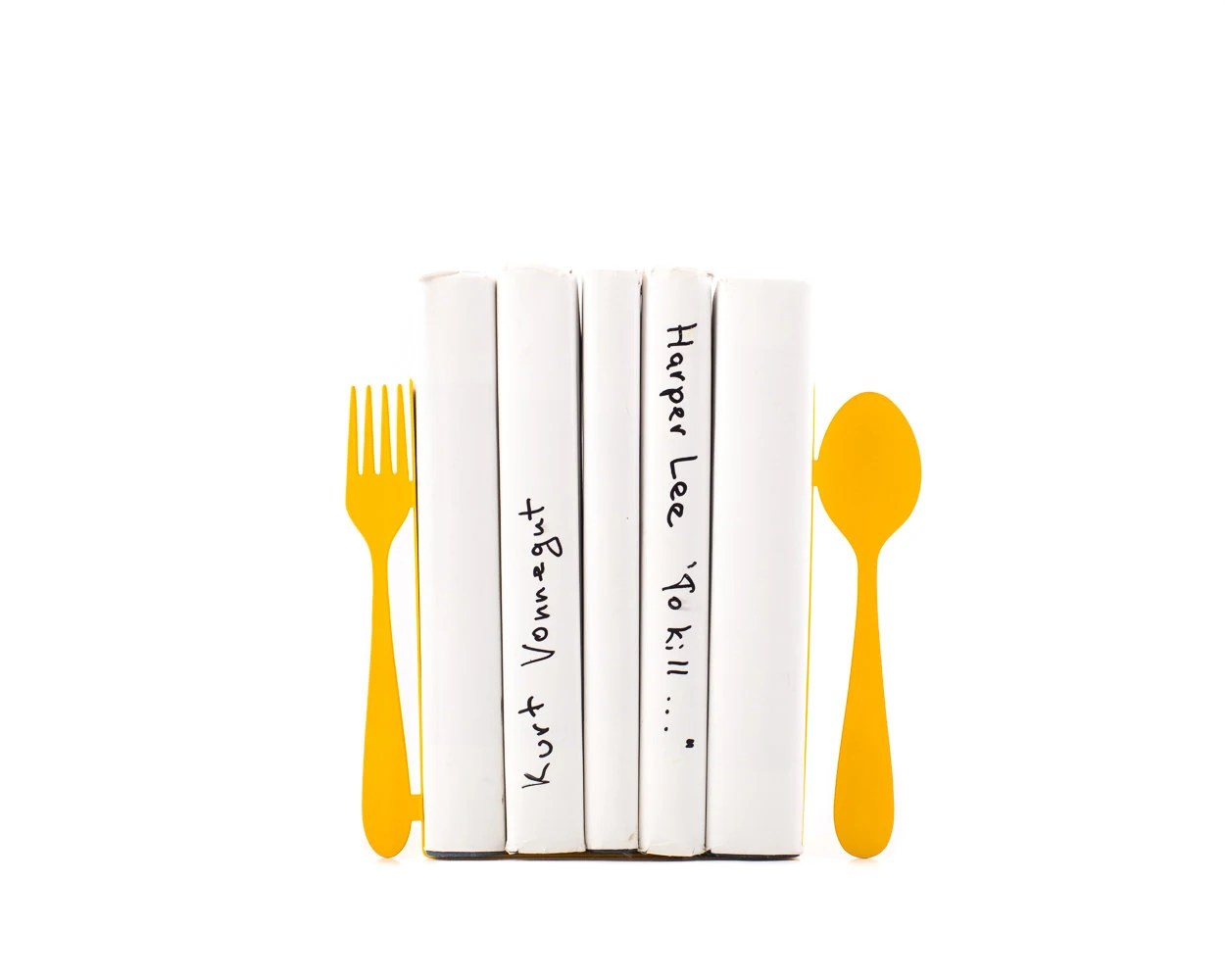 Kitchen Bookends Unique Metal Kitchen Bookends Fork And Spoon Decorative