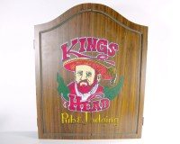 Vintage Kings Head Pub and Lodging Ex-Large Dart Board Cabinet