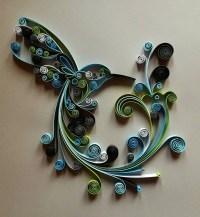 Quilled Paper Art: Hummingbird Handmade Artwork