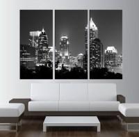 Atlanta Skyline wall art LARGE Canvas Print wall by ...