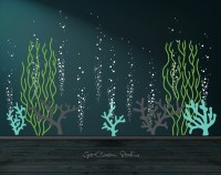 Underwater Decal Ocean Wall Decal Bubble Wall Decal Aquarium