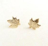 Maple Leaf Earrings Autumn Jewelry Canada Earrings Woodland