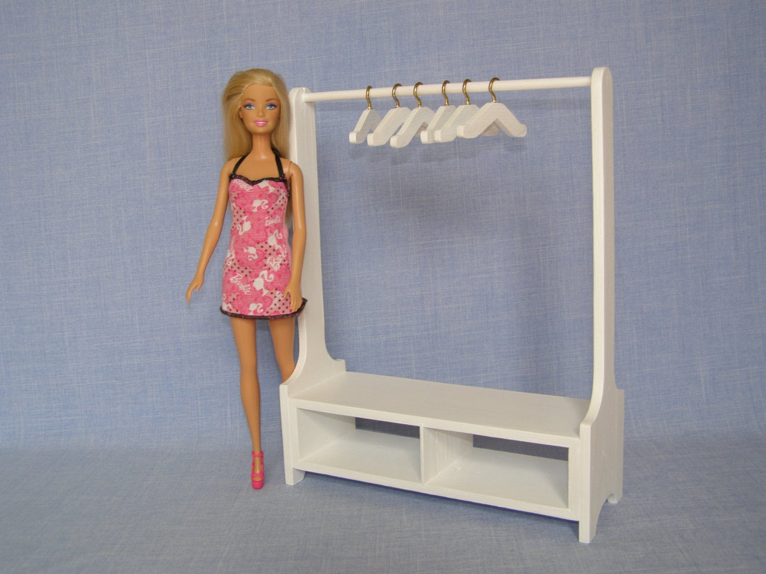 16 Scale Doll Clothes Rack For 12 Inch Doll Handmade Wood