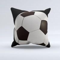 soccer throw pillow sports bed pillows soccer pillow black