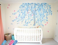Large willow tree wall decal nursery tree wall sticker murals