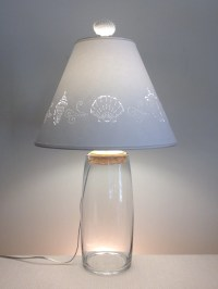 Clear Glass Fillable Lamp-Fillable Lamp-Seashell Fillable