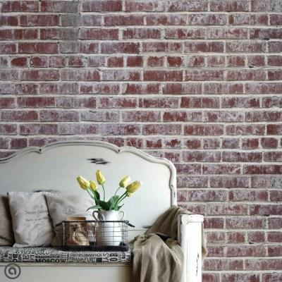 Removable Brick Wallpaper Distressed Peel & Stick Self