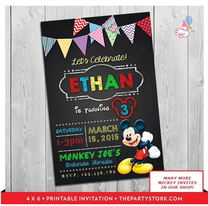 Mickey Mouse Clubhouse Invitations Printable Personalized Boy