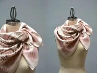 Jim Thompson Silk Scarf Vintage Pink Silk Twill Scarf Thai