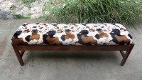 cow print bench cow print bench upholstered bench faux fur ...