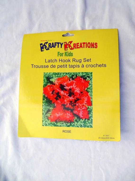 Krafty Kreations For Kids Rose Latch Hook Rug Kit Free