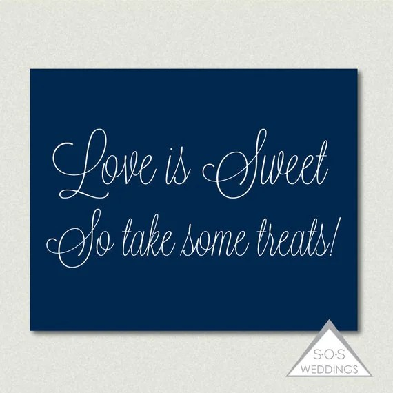 Love is Sweet, So take some Treats, Glitter Candy Buffet Sign