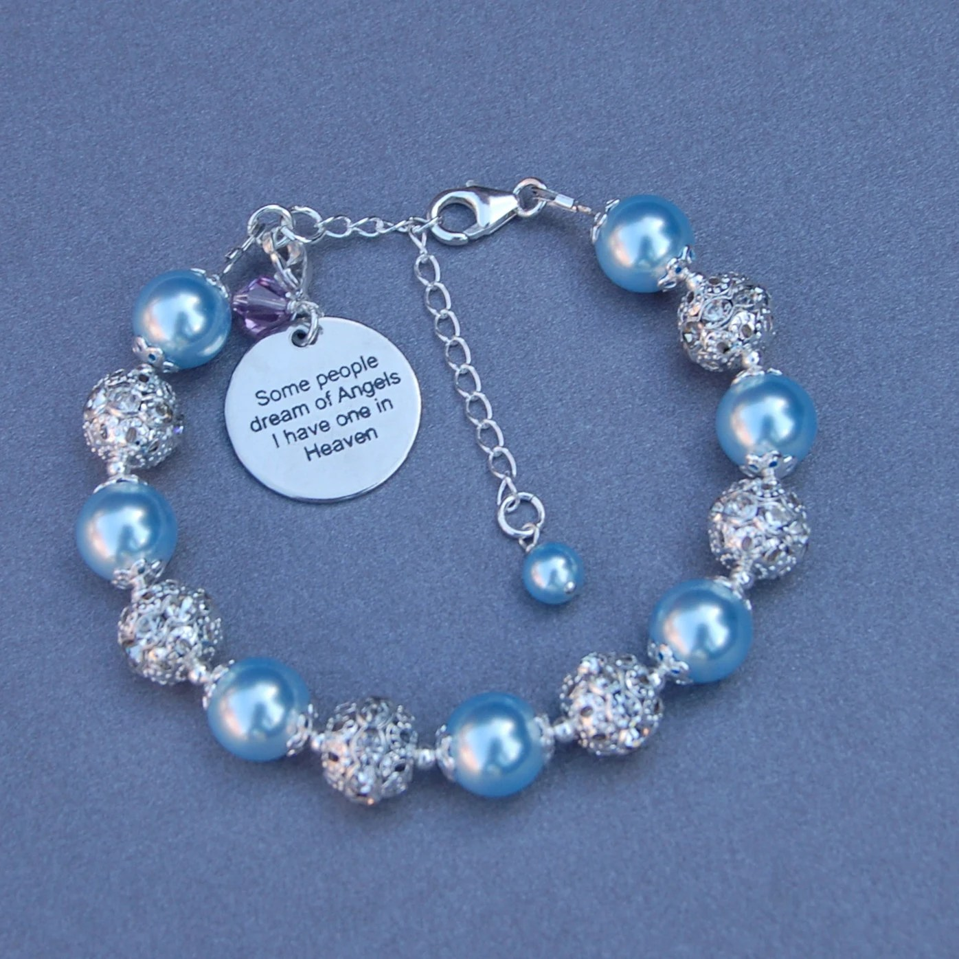 Someone In Heaven Gift In Memory Jewelry Memorial Bracelet
