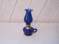 Cobalt blue kerosene lantern cobalt blue glass vintage