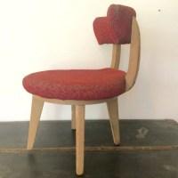 Kroehler Mini Swivel Chair Upholstered Mid Century
