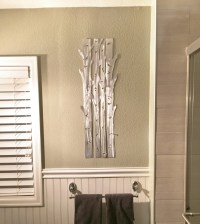 Aspen Trees Metal Wall Art, Aspen Tree Home Decor, Hand