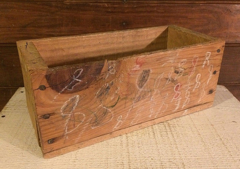 Primitive Wood Box Rustic Box Farmhouse Decor Wooden Box