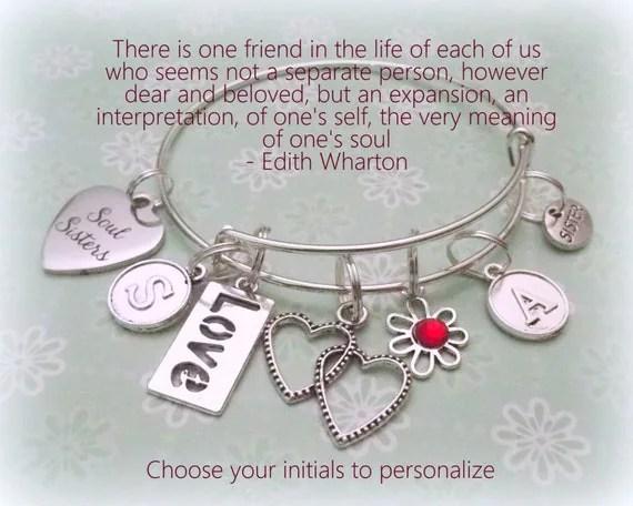 Soul Sister Charm Bracelet Best Friend Gift Gift For Best