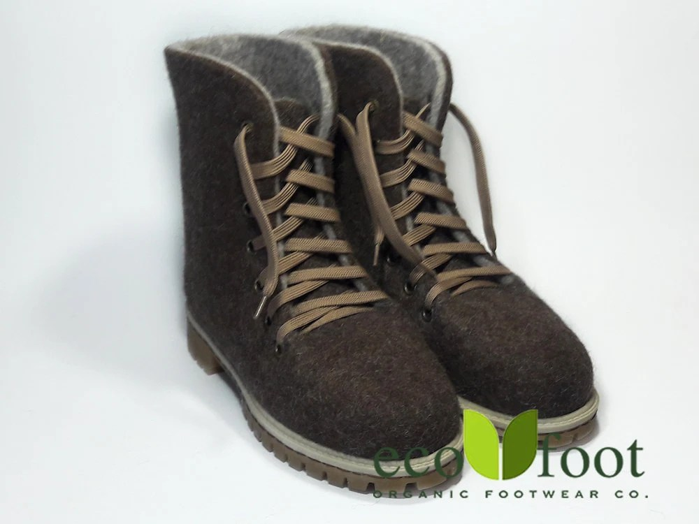 Felted Wool Boots Felt Boots Natural Beige Brown Felted Boot