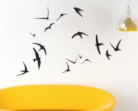 Swallow Wall Art Flying Birds wall decal by UrbanArtworkStore
