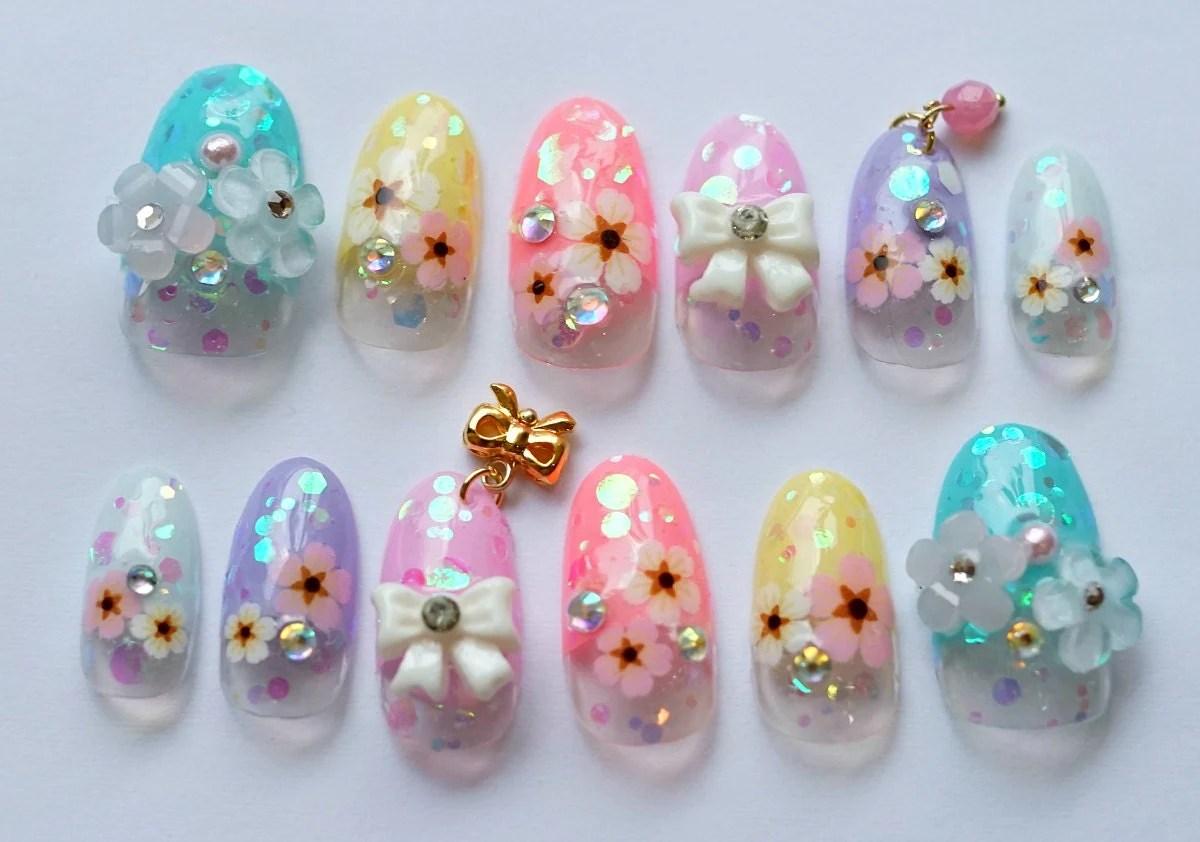 Kawaii Nails 3d Nails Japanese Nail Nail Art Spring Nail