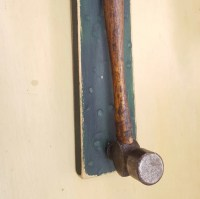Items similar to Antique Hammer Coat Rack on Etsy