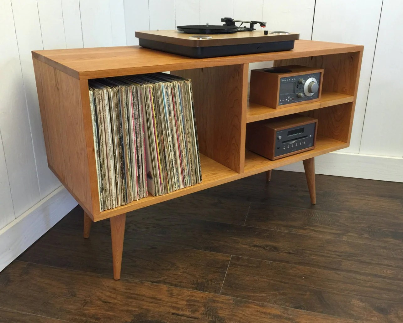 Platenspeler Meubel New Mid Century Modern Record Player Console Turntable