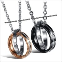 Promise Rings Necklaces Eternal Love Engraved by ...
