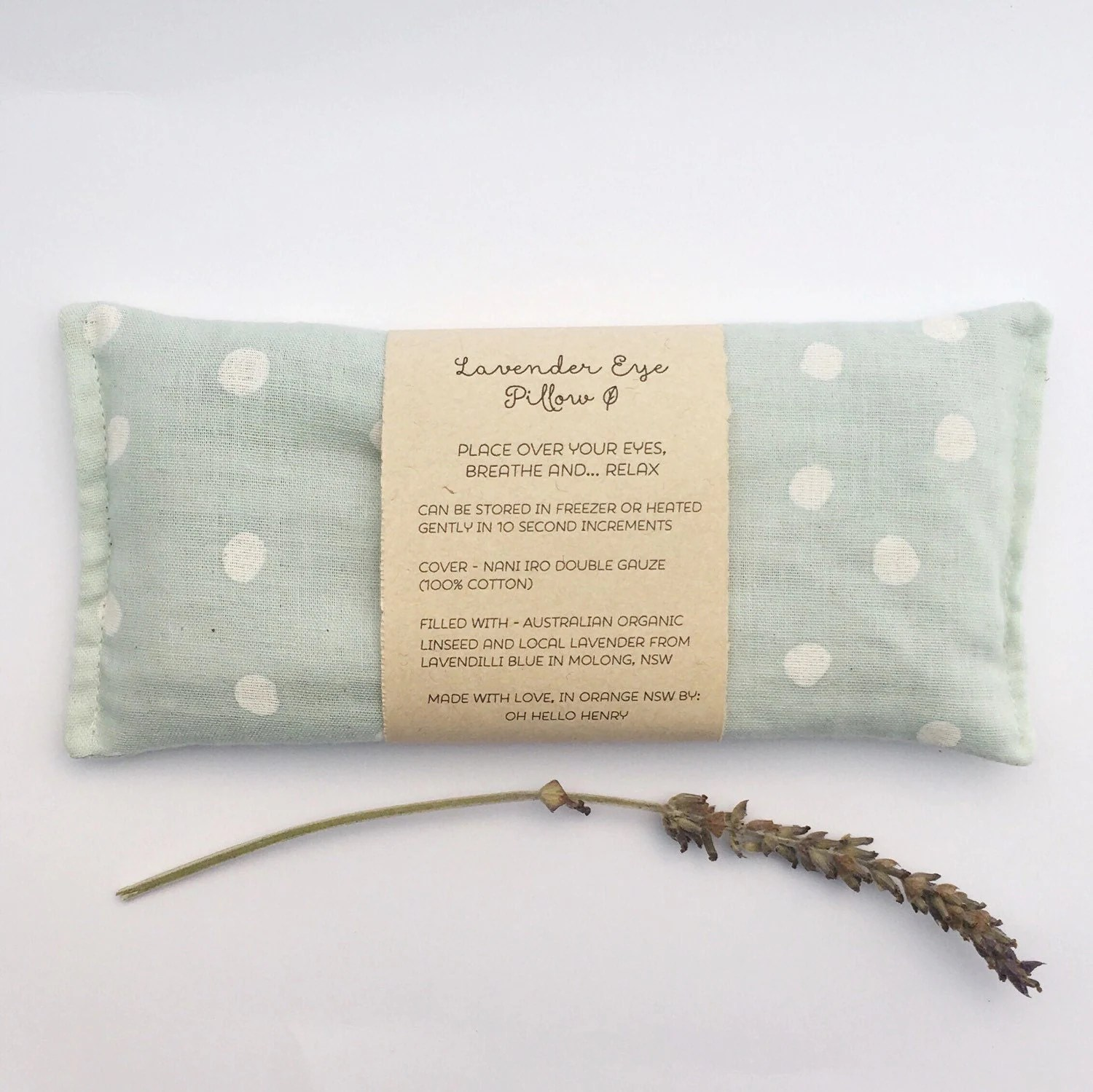 Eye Pillow Australia Lavender Eye Pillow Yoga Meditation By Ohhellohenry