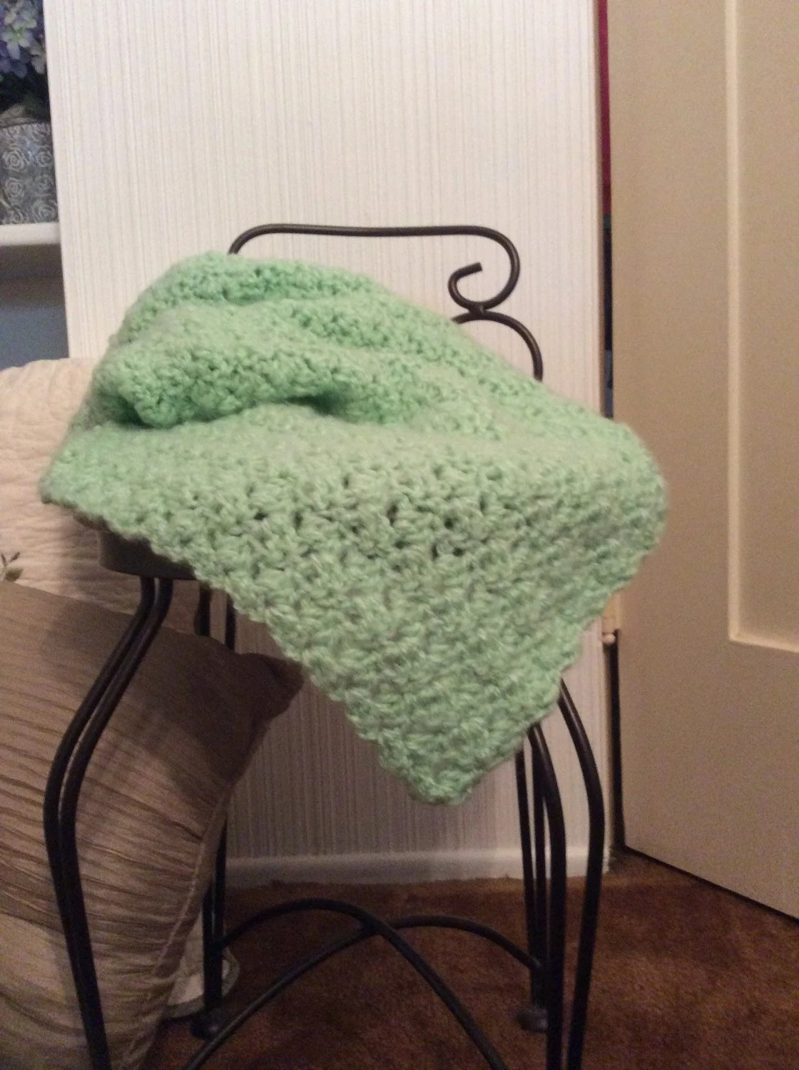 Baby Soft Mint Green Throw By Babiesbestcrochet On Etsy