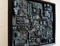 Industrial wall art. Big wall art 18x24. Unique computer