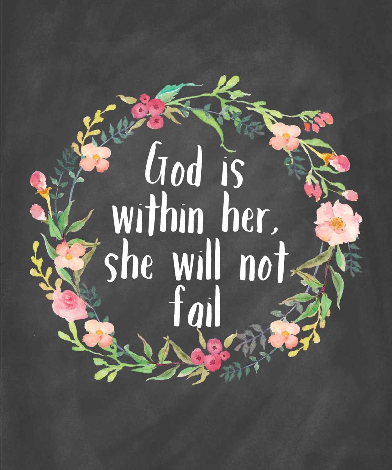 God Is Within Her She Will Not Fall Wallpaper God Is Within Her She Will Not Fail Printable By