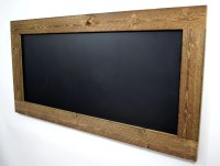 Rustic reclaimed wood chalkboard Large framed by ...