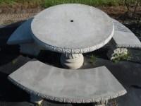 Outdoor Table Set Patio Table Concrete Patio Table Set