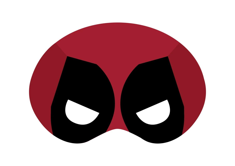 Deadpool Mask Template - Costumepartyrun