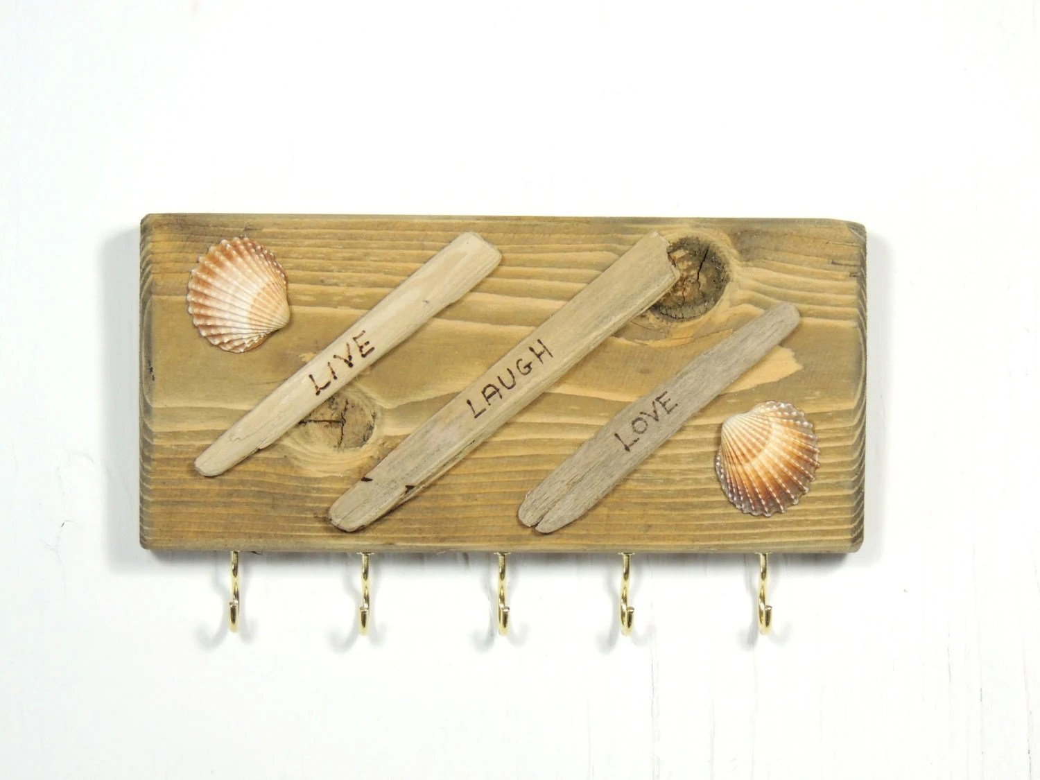 Driftwood Key Holder Live Laugh Love