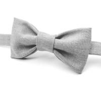 Grey Bow tie Grey Bowtie Light Grey Bow tie Men's Grey