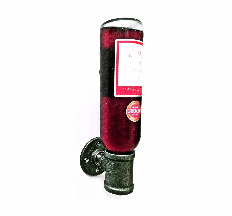 Wine Rack Wall Mount Wine Bottle Holder Iron Pipe Wine Rack