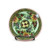 Porcelain Dinnerware Handmade Floral Ceramic Plate Pottery