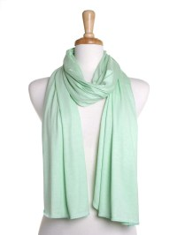 Mint Green Jersey Scarf / Oversize Scarf / Autumn Scarf / Gift