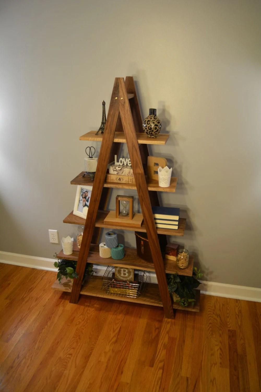 Cascade Ladder Shelf Ladder Bookshelf Hardwood Bookshelf